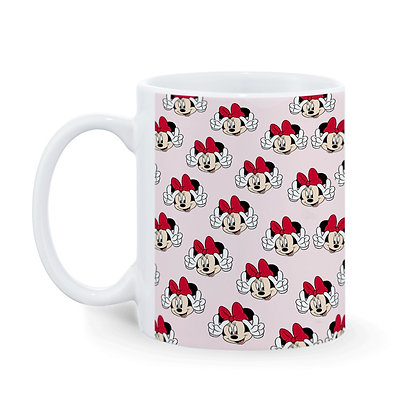 Cartoon Minnie Pattern Ceramic Coffee Mug 325 ml