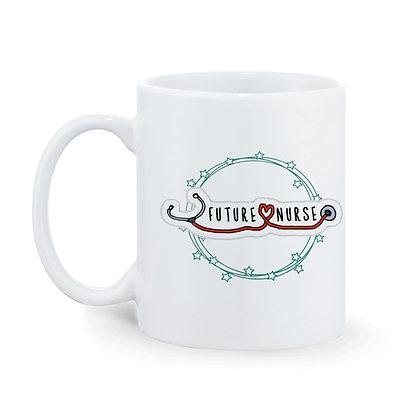 Future Nurse Printed Ceramic Coffee Mug 325 ml