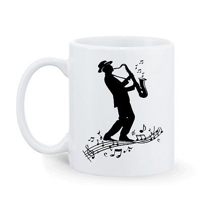 Music Printed Ceramic Coffee Mug 325 ml