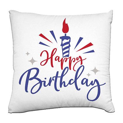 Happy birthday Printed Poly Satin Cushions Pillow Co