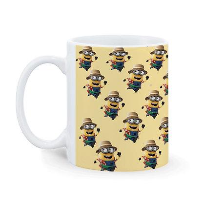 Cartoon Cool Minion Pattern Ceramic Coffee Mug 325 ml