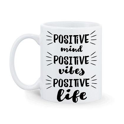 Positive Mind Positive Life Printed Ceramic Coffee Mug 325 ml