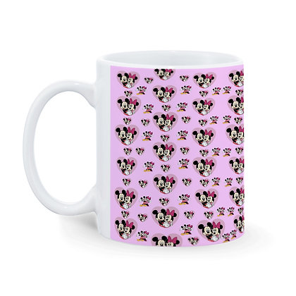 Cartoon Mickey-Minnie Mouse Pattern Ceramic Coffee Mug 325 ml