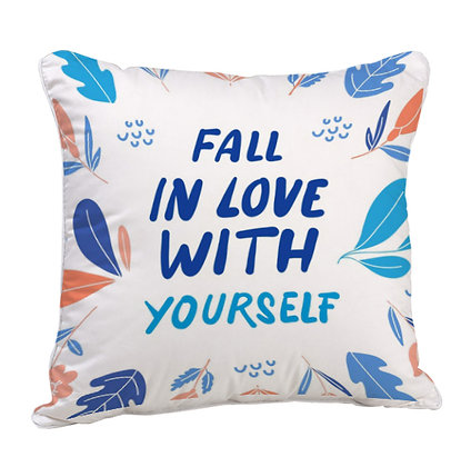 Fall in love with Yourself Satin Cushion Pillow with Filler