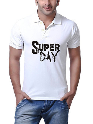 Super Day Printed Regular Fit Polo Men's T-shirt