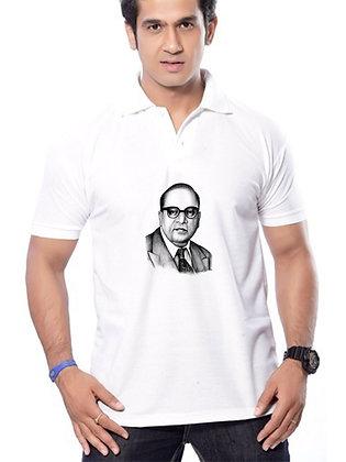 Babasaheb Dr. Bhim Rao Ambedkar Printed Regular Fit Polo Men's T-shirt