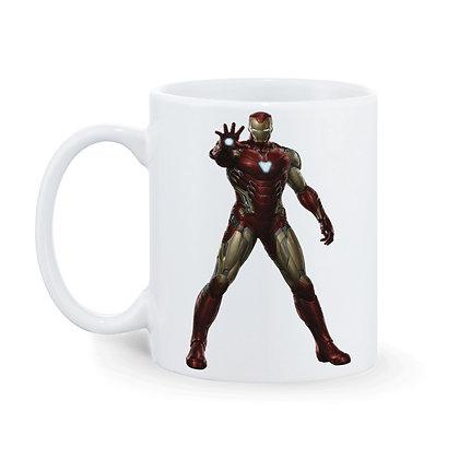 Ironman - Spiderman Printed Ceramic Coffee Mug 325 ml