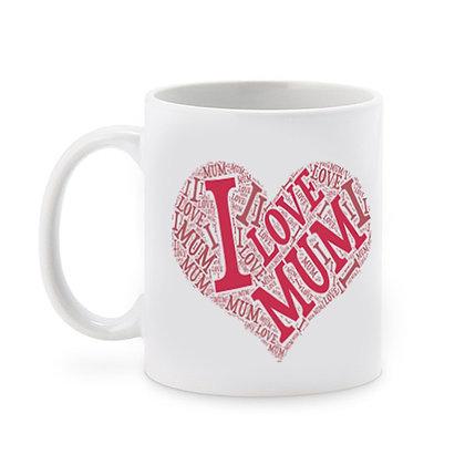 I Love You Mom Ceramic Coffee Mug 325 ml