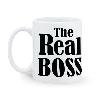 The Real Boss Printed Ceramic Coffee Mug 325 ml