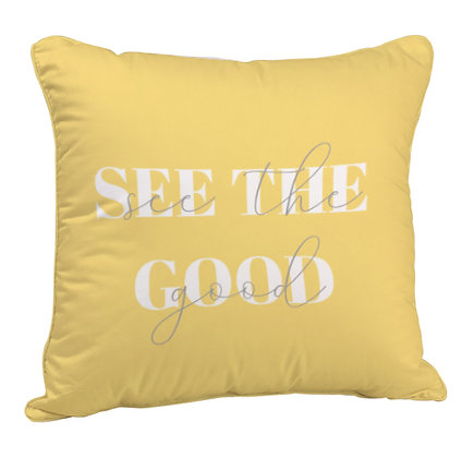 See The Good Printed Poly Satin Cushion Pillow with Filler