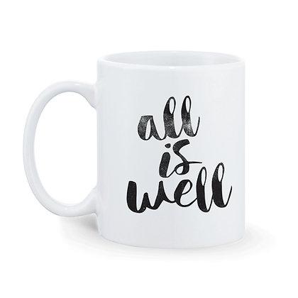 All is Well Printed Ceramic Coffee Mug 325 ml