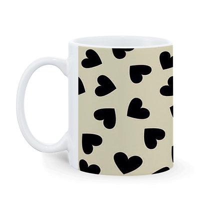 Love Heart Theme Pattern Ceramic Coffee Mug 325 ml