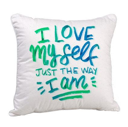 I Love myself Satin Cushion Pillow with Filler