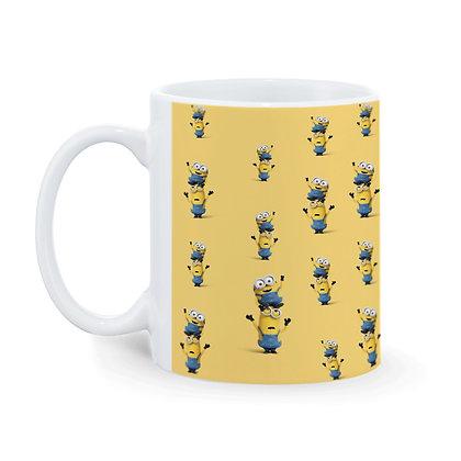 Cartoon Minions Pattern Ceramic Coffee Mug 325 ml