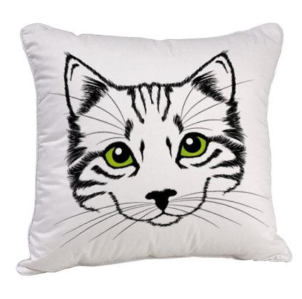 Cute Cat Satin Cushion Pillow with Filler