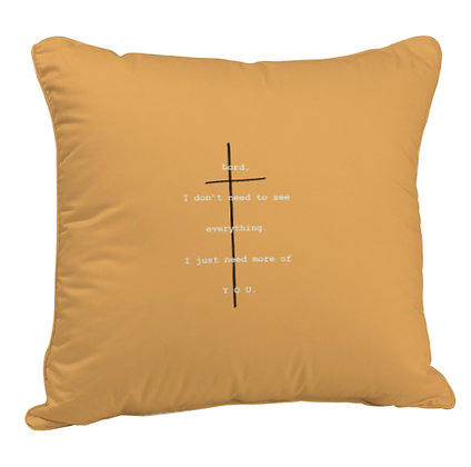 Lord I don't need everyone Printed Poly Satin Cushion Pillow Cover with Filler