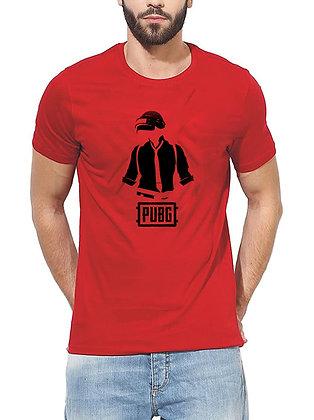 PUBG Printed Regular Fit Round Men's T-shirt