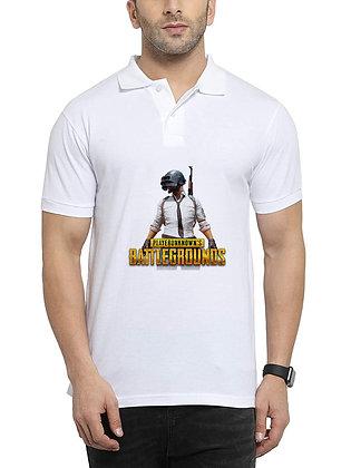 Pubg Printed Regular Fit Polo Men's T-shirt
