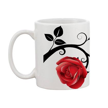 Roses Ceramic Coffee Mug 325 ml