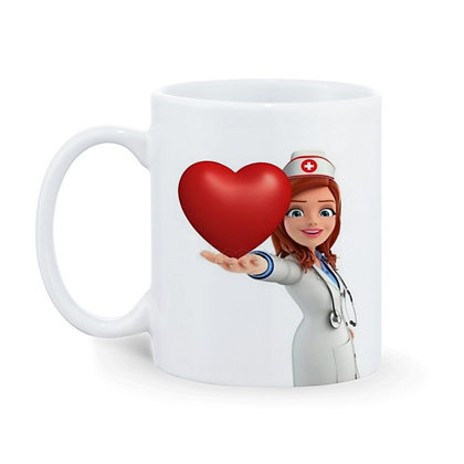 Hello I'm a Doctor  Printed Ceramic Coffee Mug 325 ml