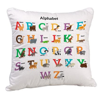 Alphabet Satin Cushion Pillow with Filler