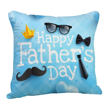 Happy Father's Day Satin Cushion Pillow with Filler