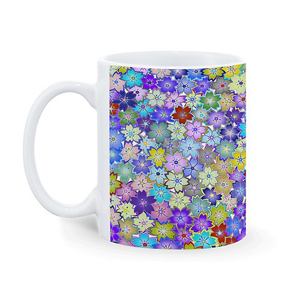 Full of Flowers Printed Ceramic Coffee Mug 325 ml