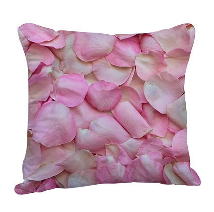 Rose Leaves Satin Cushion Pillow with Filler
