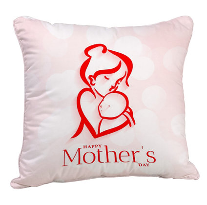 Happy Mother's Day Satin Cushion Pillow with Filler