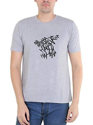 HA HA HA HA   Printed Regular Fit Round Men's T-shirt