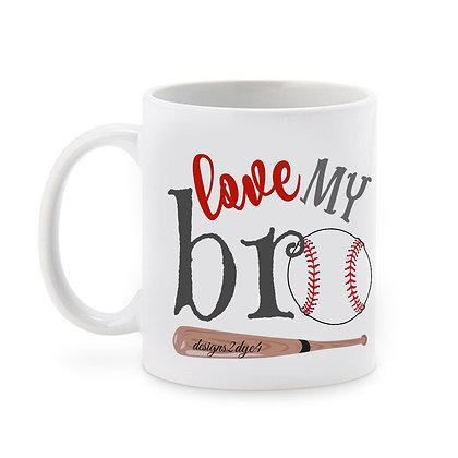 Love My Bro Ceramic Coffee Mug 325 ml