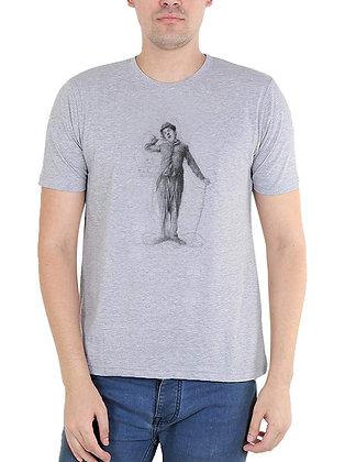 Charlie Chaplin Printed Regular Fit Round Men's T-shirt