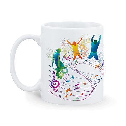Life in Music Ceramic Coffee Mug 325 ml