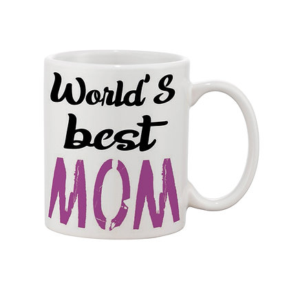 World's Best Mom Printed Ceramic Coffee Mug 325 ml