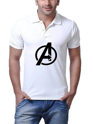 Avenger Printed Regular Fit Polo Men's T-shirt