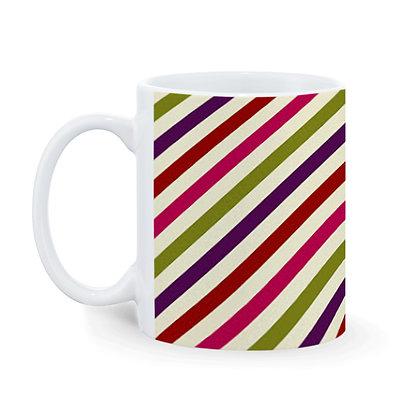 Line pattern Printed Ceramic Coffee Mug 325 ml