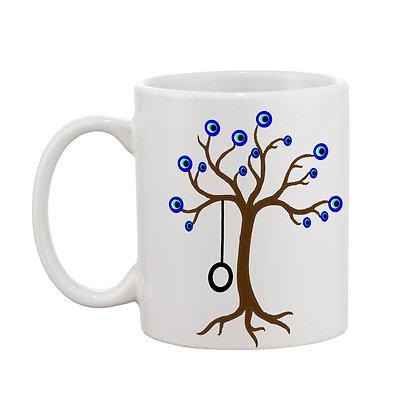 Blue Eyes Printed Ceramic Coffee Mug 325 ml