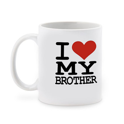 I Love my Brother Ceramic Coffee Mug 325 ml