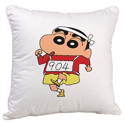 Shinchan  Printed Poly Satin Cushion Pillow with Filler