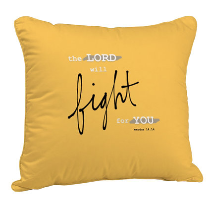 Fight for you Printed Poly Satin Cushion Pillow Cover with Filler