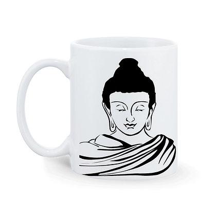Buddha Printed Ceramic Coffee Mug 325 ml