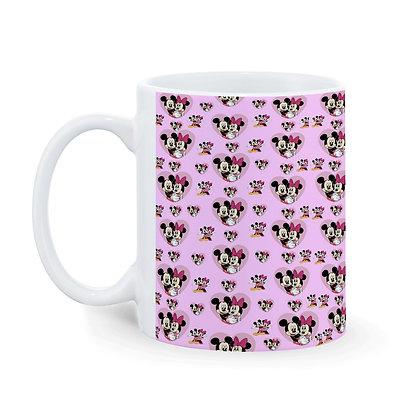 Cartoon Mickey-Minnie Pattern Ceramic Coffee Mug 325 ml