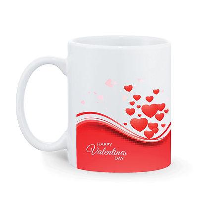 Happy Valentine's Day Printed Ceramic Coffee Mug 325 ml