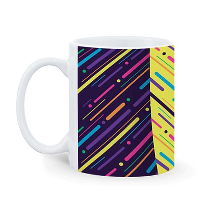 Color theme Pattern Printed Ceramic Coffee Mug 325 ml