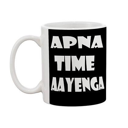 Apna Time Aayenga Printed Ceramic Coffee Mug 325 ml