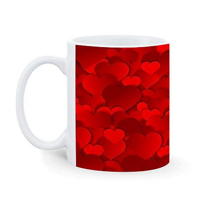 Heart Pattern Ceramic Coffee Mug 325 ml