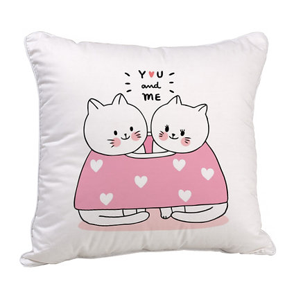 You and Me Satin Cushion Pillow with Filler