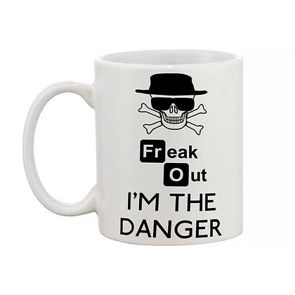 I Am The Danger Printed Ceramic Coffee Mug 325 ml