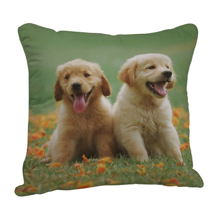 Puppy Satin Cushion Pillow with Filler