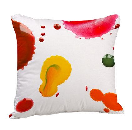 Paint Artwork Satin Cushion Pillow with Filler
